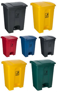 PLASTIC RECYCLING BIN RECYCLE DUST WASTE PET FOOD KITCHEN PEDAL BIN BATHROOM NEW