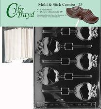Apple Lolly Chocolate Mold w/Cybrtrayd Instructions FREE STICKS
