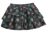 NWT New Baby Girls Minnie Mouse Tiered Skort Skirt Gray 18 Months
