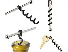 Porte clé tire bouchon Simple Wine Corkscrew Bottle Opener Mini Tools Keychain