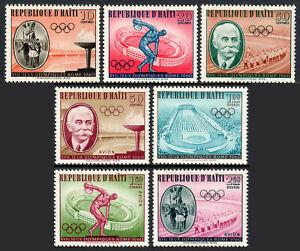 Haiti 462-465,C163-C165, MNH. 17th Olympic Games, Rome, 1960