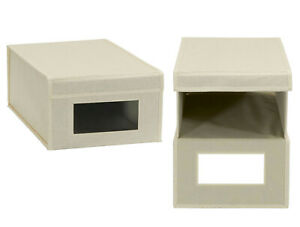 Household Essentials Storage Boxes Shoe Size.Lot of Three