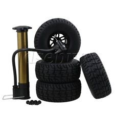 "RC 1:10 2.2"""" Crawler Car Inflatable Tires Black Alloy Beadlock Pack of 4"