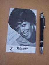 Salena Jones   Autograph Signature ( code J21 )  please scroll down