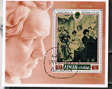 Ajman Art Music Famous Beethoven Painting Souvenir Sheet 1970