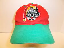 VTG CHICAGO WOLVES CHRISTMAS HAT CAP RED & GREEN SEWN LOGOS