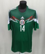 Mexico #14 Javier Hernandez Chicharito World Cup 2014 Jersey Adidas Shirt XL Top