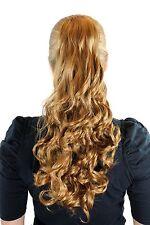 Postiche Clair Blond Cuivré 50 Cm Bouclées Longues Épingle à Cheveux-Papillon