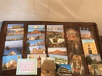 Vintage Bethlehem Jerusalem Travel Postcards Israel Lot Souvenirs Vacation Trip