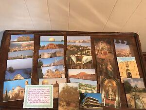Vintage Bethlehem Jerusalem Travel Postcards Israel Lot Souvenirs Vacation Trip