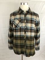 ORVIS women's XL Extra Large Flannel Button Front Polyester Forest Scene Back.
