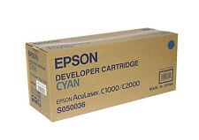 TONER CYAN EPSON  D'ORIGINE C1000 C2000 C13S050036