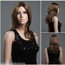 High Quqlity synthetic wigs long wave hair women wigs brown color 100%kanekalon