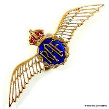 1930s WW2 RAF Enamel & Brass Wings Sweetheart Brooch Badge - Royal Air Force