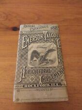 1883 EMERSON TALCOTT & CO. FARM IMPLEMENTS POCKET LEDGER ROCKFORD ILLINOIS