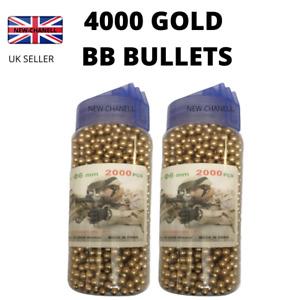4000 GOLD BULLETS HIGH GRADE BB GUN Pellets Ammo 6 mm 0.012 g Airsoft 2x2000