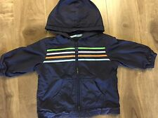 Baby Gap Boy Toddler 18 - 24 Month Navy Light Jacket Lined Stripes