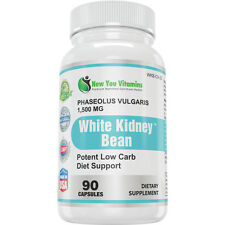 White Kidney Bean Extract 100% Pure 1,500mg Carb Blocker Low Carb Diet  New x1