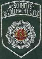 DDR Textilabzeichen Abschnittsbevollmächtigter ABV grün für Uniformbluse