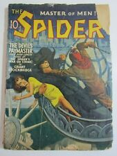 The Spider May 1941 GD Spider vs Villain on the  Statue of Liberty!