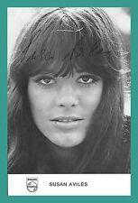 SUSAN AVILES   Popsängerin   Original-Autogramm auf Philips-Autogrammkarte