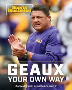 Ed Orgeron LSU Tigers National Champs Sports Illustrated cover Photo-select size