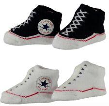 Converse All Star Baby Chucks und Lätzchen Geschenkset lila weiß