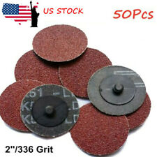 50Pcs 2Inch 36 Grit Roloc Type R Roll Lock Disc Pads Sanding Abrasive Grinding
