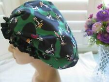 Shower cap  for dreadlocks green with cows fun design   waterproof SPECIAL PRICE
