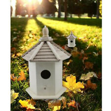 Exquisite Hanging Wooden Bird Nesting Box House w/ Round Entrance Hole