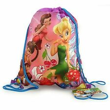 LOT 6 DISNEY TINKERBELL Kids Sling Bag Tote Backpack BIRTHDAY PARTY FAVORS