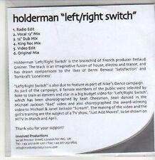 (CS132) Holderman, Left/Right Switch - DJ CD