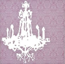 rosa tela arte moderna immagine stampa LAMPADARIO CHANDELIER Giclée quadrato