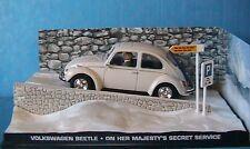 VW VOLKSWAGEN BEETLE ON HER MAJESTY'S SECRET SERVICE BOND 007 1/43 FABBRI