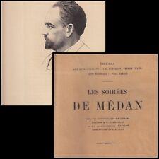LES SOIREES DE MEDAN  ZOLA MAUPASSANT HUYSMANS CEARD HENNIQUE ALEXIS 1890