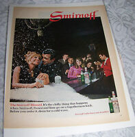 Vintage Original Ad Advertising Print Art 1968 SMIRNOFF VODKA