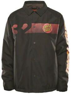 ThirtyTwo CRUZER 10K Mens Snap Front Snowboard Jacket Large Black NEW
