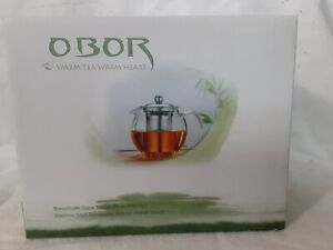 Obor Borosilicate Glass Teapot With Stainless Steel Infuser