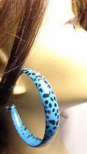 2 inch HOOP EARRINGS LEOPARD PRINT HOOP EARRINGS ASSORTED COLOR HOOPS LEOPARD