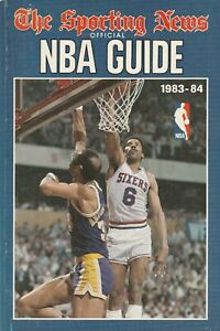 1983-84 The Sporting News Official NBA Guide 400+ Pages L@@K Scans Great Shape!