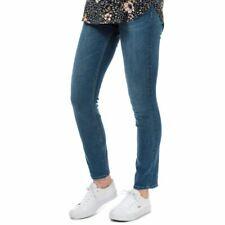 Neues AngebotDamen nur Eva Leben Reißverschluss Mid Rise Regular Slim Fit Jeans in blau