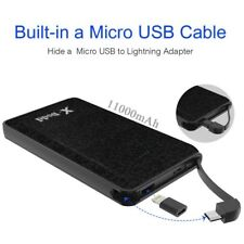 11000mAh Portable Charger Power Bank with built in cable External Battery Charge