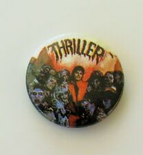 MICHAEL JACKSON THRILLER METAL BUTTON BADGE FROM THE 1980's NEW OLD SHOP STOCK
