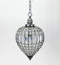 Ceiling Light Oriental 23x40CM Lamp Crystal Chandelier Drops Clear Round NEW