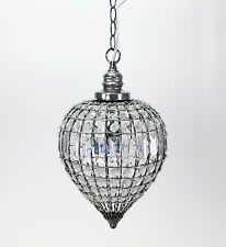 Plafonnier Orient 23x40cm Lampe Cristal Lustre en Gouttes transparent rond