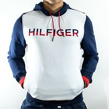 NWT Tommy Hilfiger Men's White Soft Pullover Hoodie Big Spelled logo Size M