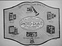PUBLICITÉ DE PRESSE 1920 PHOTO-PLAIT VERASCOPE BUSTER ANSCO GAUMONT -ADVERTISING