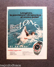 P324 - Advertising Pubblicità -1972- LONGINES , LA PRECISIONE OLIMPIONICA.