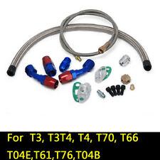 For T3 T4 T3/T4 T70 T66 TO4E Turbo Oil Feed Line Oil Return Line Drain Line Kit