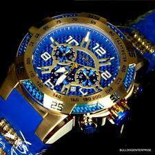 Invicta Speedway Viper II 50mm Blue Gold Tone Multifuction Chronograph Watch New